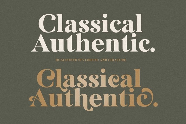 Classical Authentic Font example image 1