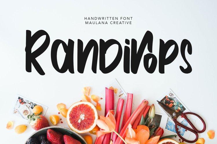 Randirops Handwritten Font example image 1