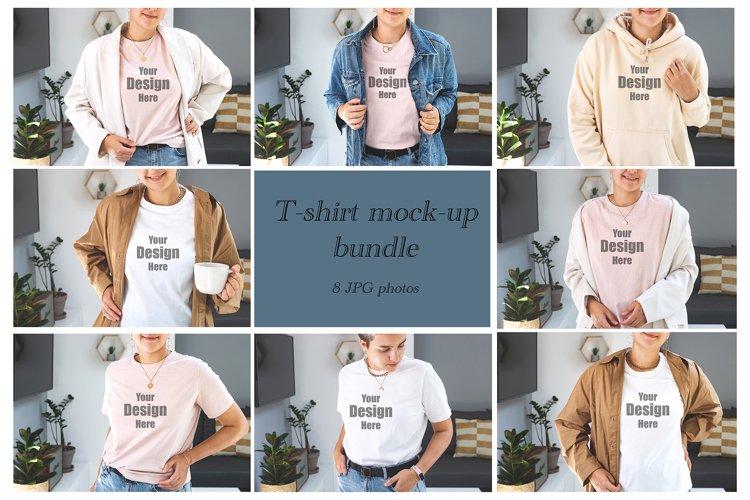T-shirt mockup bundle. Bella Canvas tshirt mock-up. Mock up