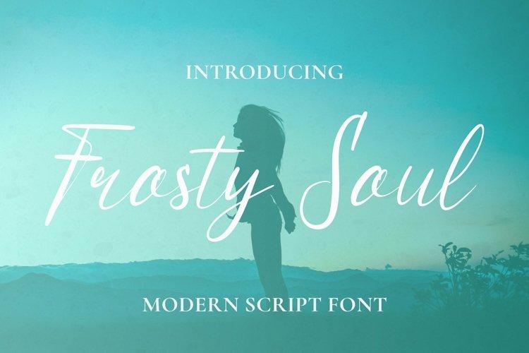 Web Font Frosty Soul Font example image 1