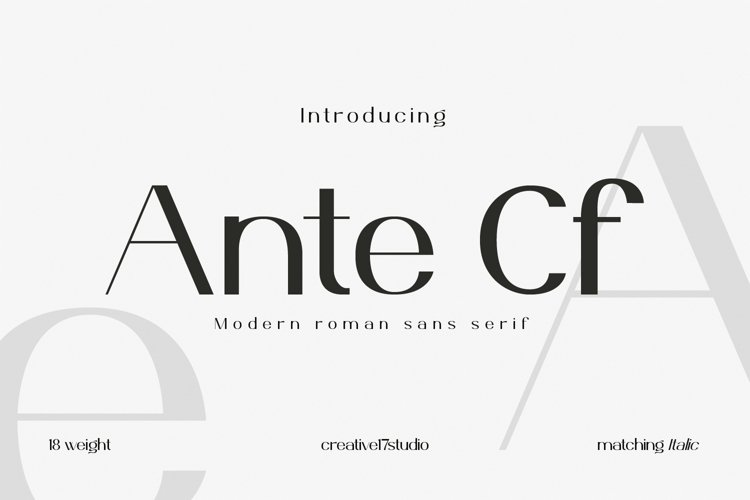 Ante Cf Font Family example image 1