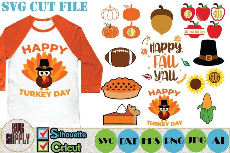 Thanksgiving SVG Cut File Set