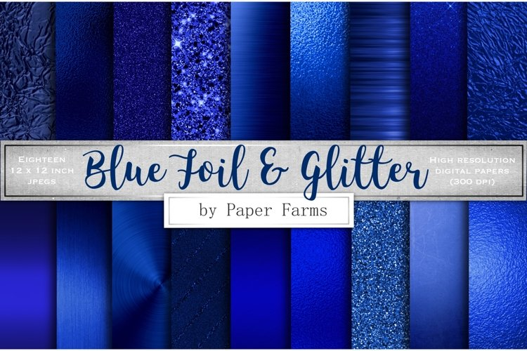 Blue foil glitter textures example image 1