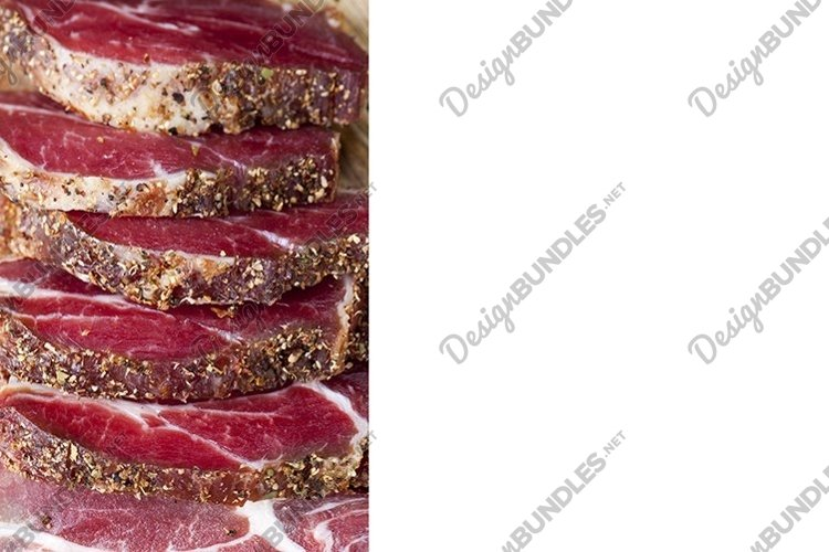 beef meat prepared and marinated for food example image 1