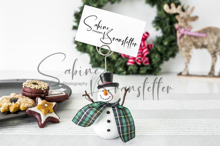 Mockup Name Place Tag/Card Christmas Photography