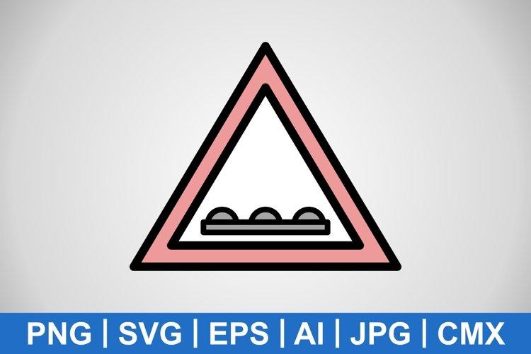Vector Un-even road Icon example image 1