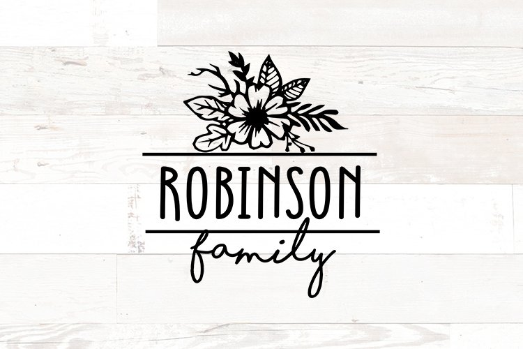 Floral Family Name Sign example image 1
