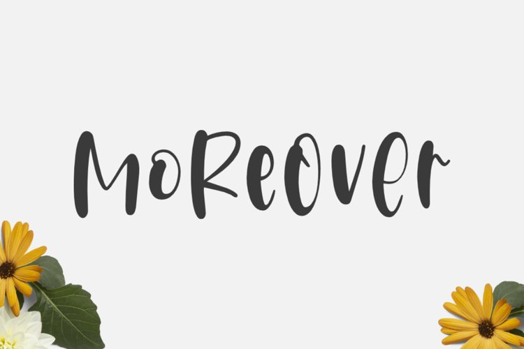 Moreover - A cute and fun crafty font