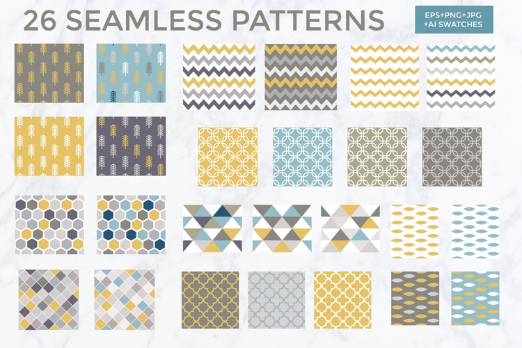 26 vector patterns Trendy Colors example 2