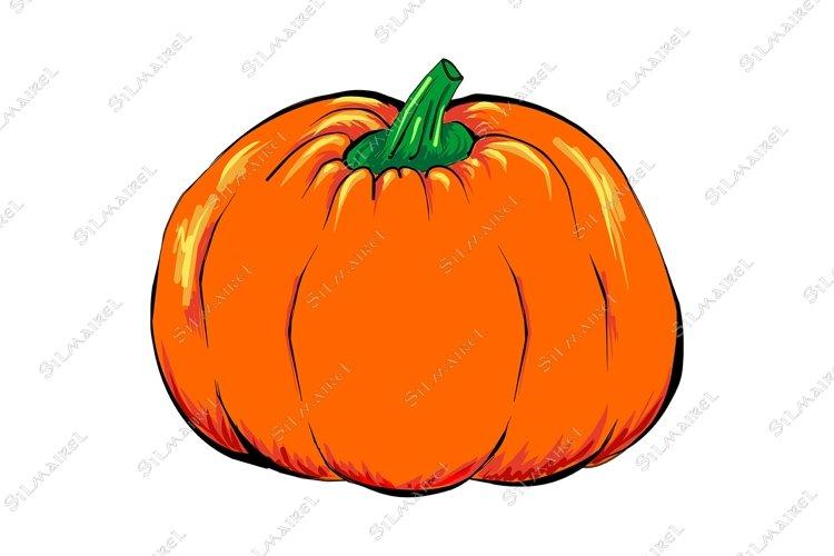 Halloween Jack-o-lantern orange pumpkin vegetable isolated example image 1