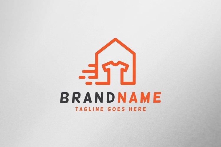 Laundry House Logo Tempate