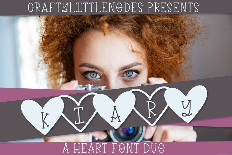 Kiary - A Handwritten Heart Font Duo example image 1