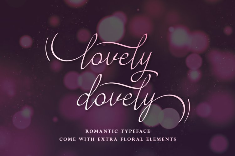 Lovely Dovely - script handwritten font example image 1