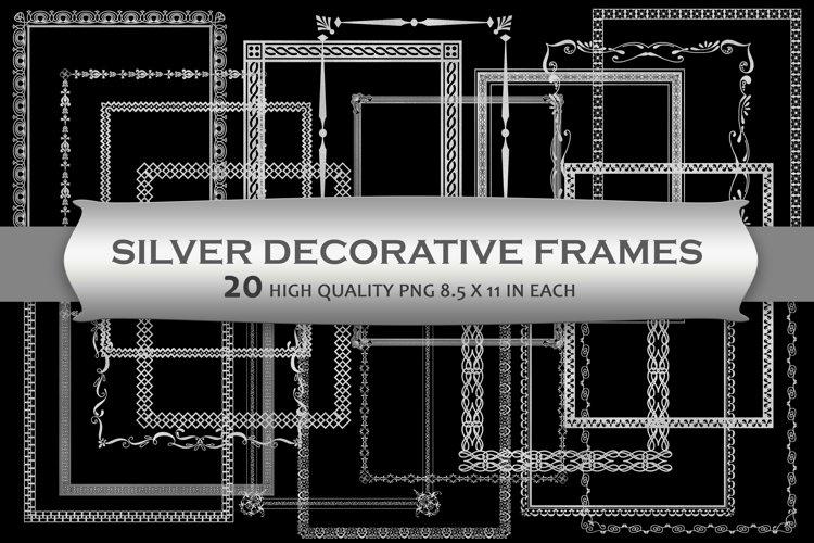 Silver Decorative Frames Clipart