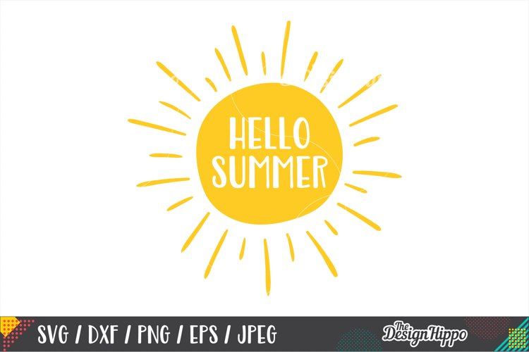 18+ Hello Summer / Svg Png Dxf Jpeg Cutting File Design
