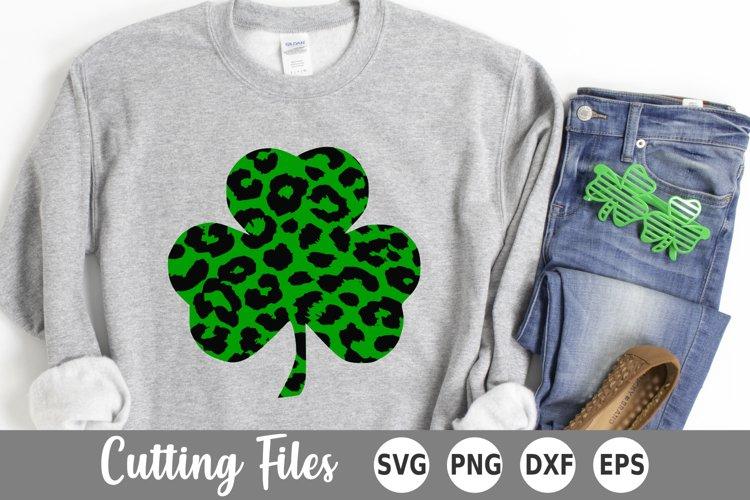 St Patricks Day SVG | Shamrock SVG | Leopard Shamrock SVG