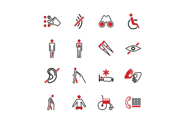 Disabled vector icons example image 1