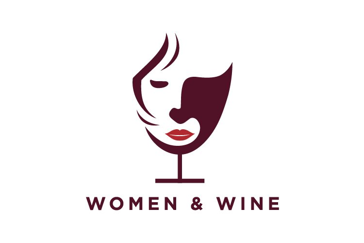 face women wine logo and abstract logo example image 1