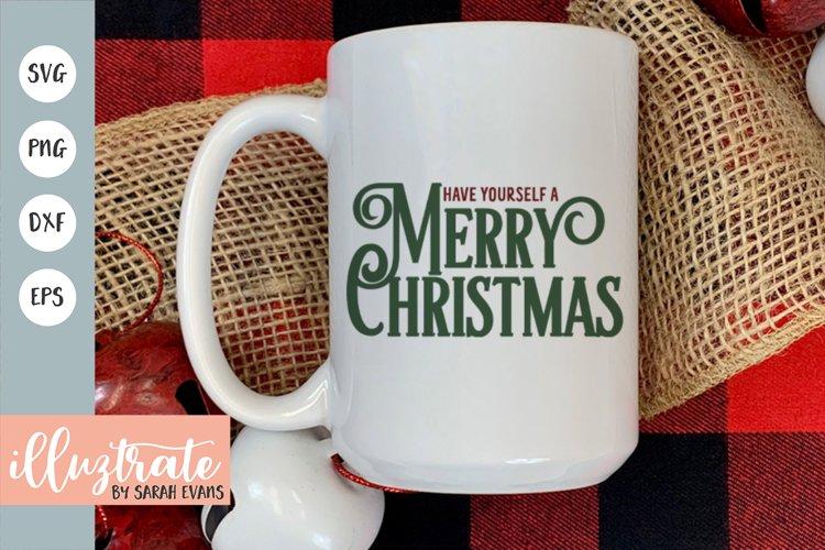 Merry Christmas SVG Cut File | Christmas SVG | Christmas DXF example image 1