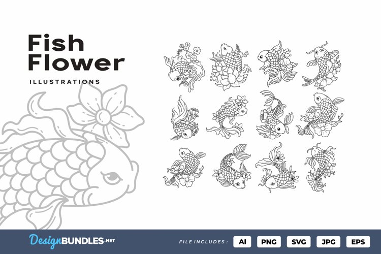 Fish Flower Illustrations