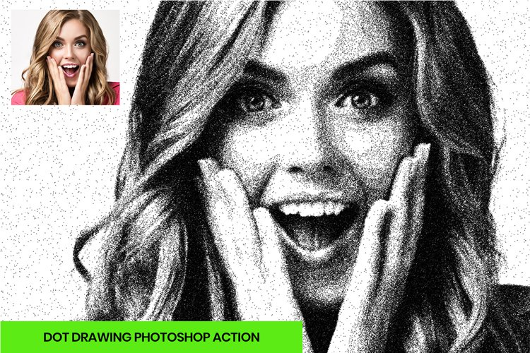 Dot Drawing Photoshop Action