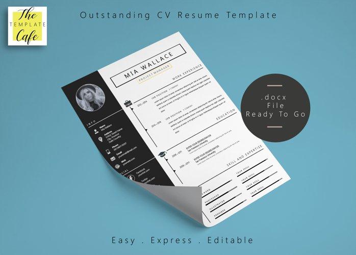 Elegant Minimalistic Resume Template With MS Word