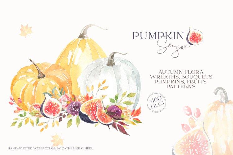 Pumpkin Season Autumn Watercolor