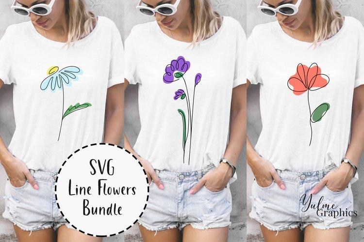 Spring Flowers SVG Bundle. T shirts Designs. Flower SVG.