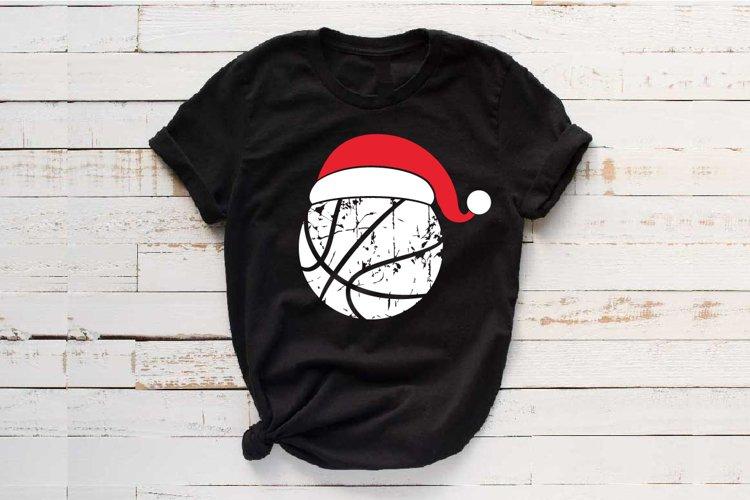 Santa Basketball Hat Christmas svg Elf sweater 1043s example image 1