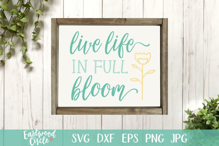 Live Life in Full Bloom - A Spring SVG Cut File for Crafters