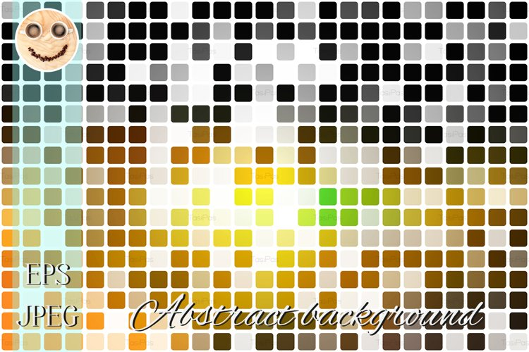 black orange yellow green occasional opacity mosaic