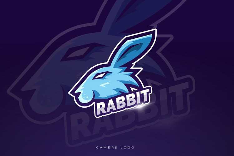 Rabbit Mascot And Esport Logo example image 1