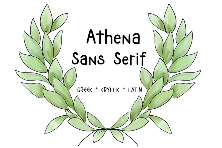 ATHENA SANS SERIF FONT - Greek, Cyrillic and Latin Typeface example image 1