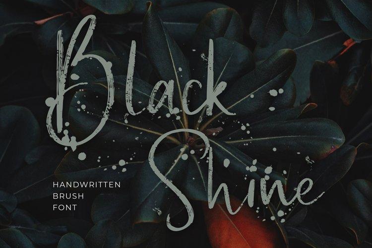 Black Shine Script Brush Font example image 1