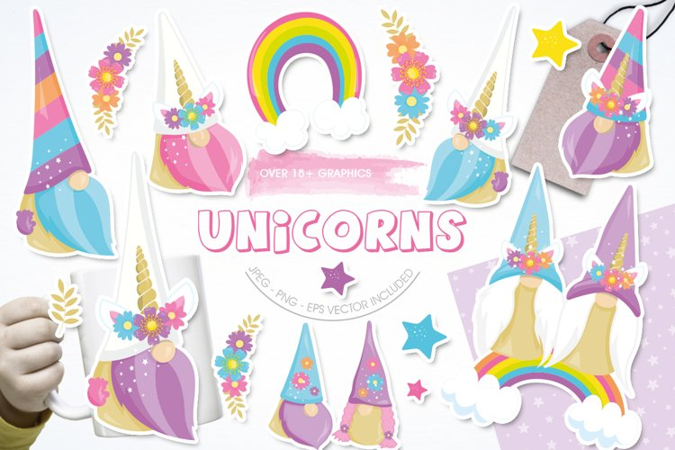Unicorn Gnomes Graphic & Illustration - Sublimation example image 1