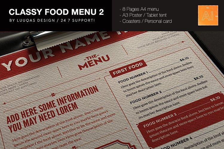 Classy Food Menu 2 example image 1