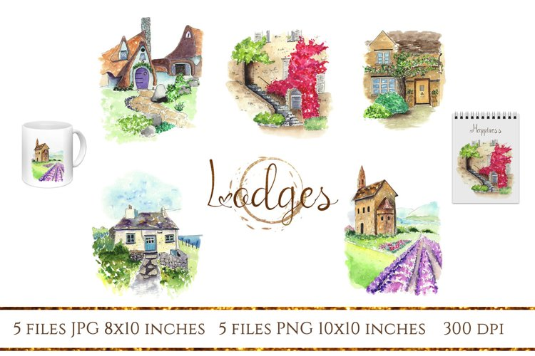 It is well with my soul. Beautiful watercolor houses example image 1