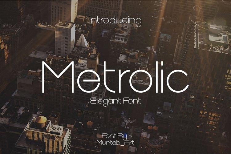 Metrolic | Elegant Font example image 1