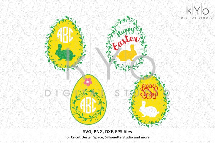 Easter Egg Wreath SVG DXF PNG EPS files