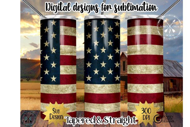 20 oz. Skinny Tumbler Sublimation PNG-American Flag