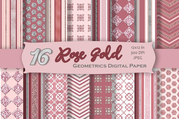 Rose Gold Digital Paper Pack example image 1