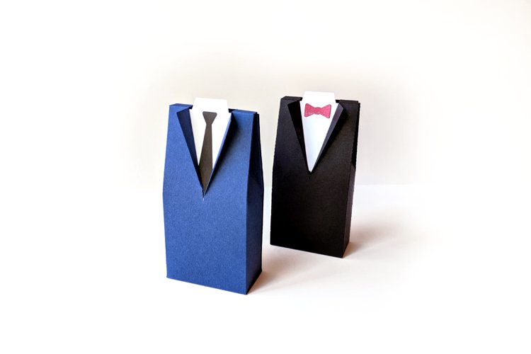 Wedding Tuxedo Suit Box SVG PDF Design example image 1