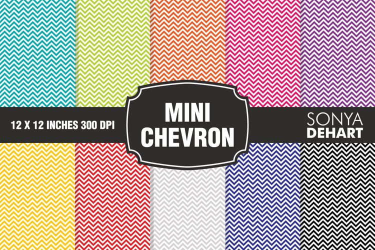 Mini Chevron Digital Paper Pack example image 1