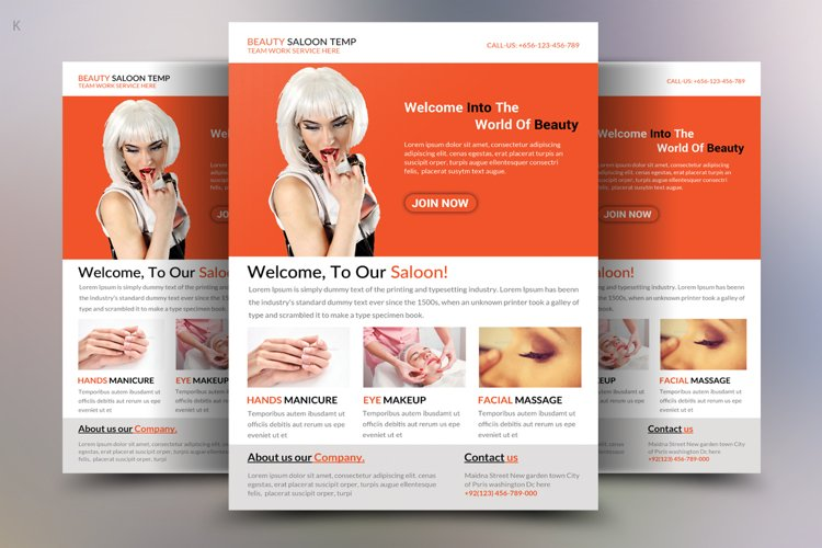 Beauty Saloon Flyer Template example image 1