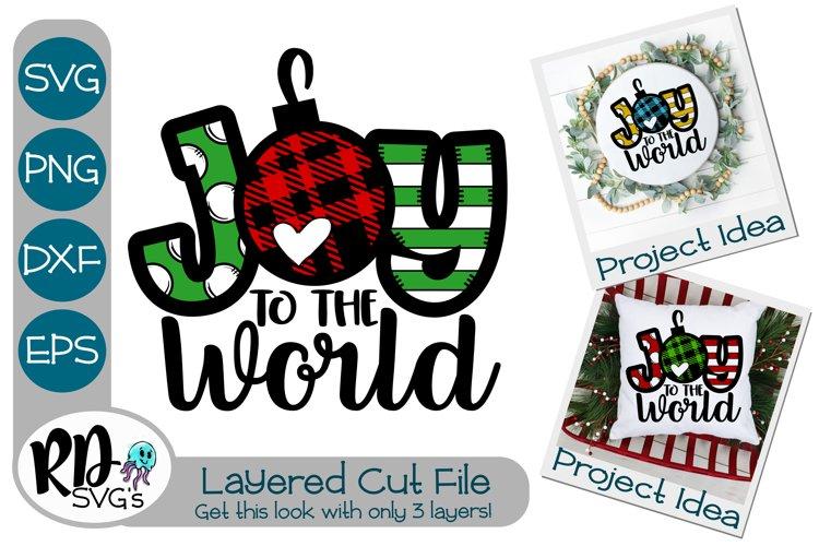 Joy to the World - A Plaid Layered SVG Cricut Cut File example image 1