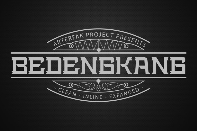 Bedengkang Typeface example image 1
