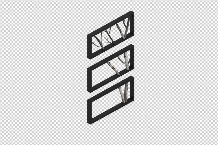 Isometric Decoration 3D isolated render example image 1
