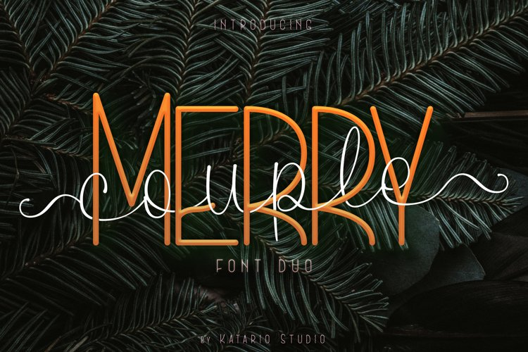 Merrycouple | Font Duo San Serif and Script example image 1