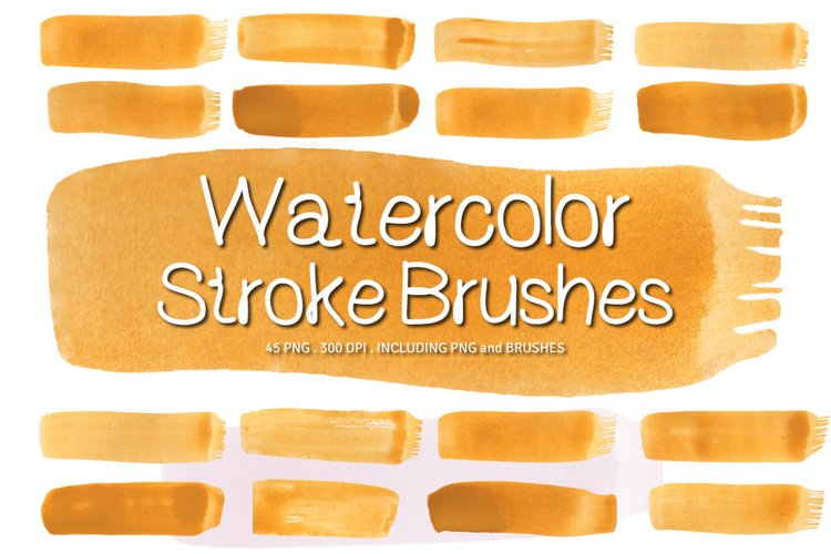 Watercolor Paint Brush Strokes Ver.1 example image 1