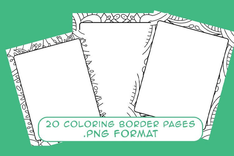 20 Coloring Border Pages example image 1